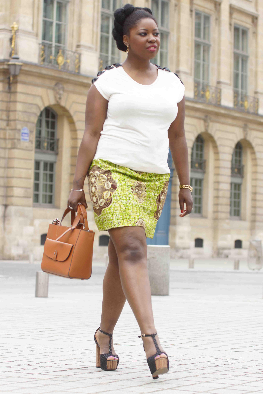 Ma jupe courte au motif Wax Hollandais