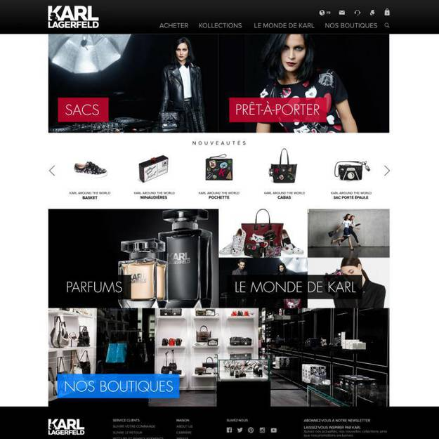E-SHOP KARL LAGERFELD : MES 10 COUPS DE COEUR