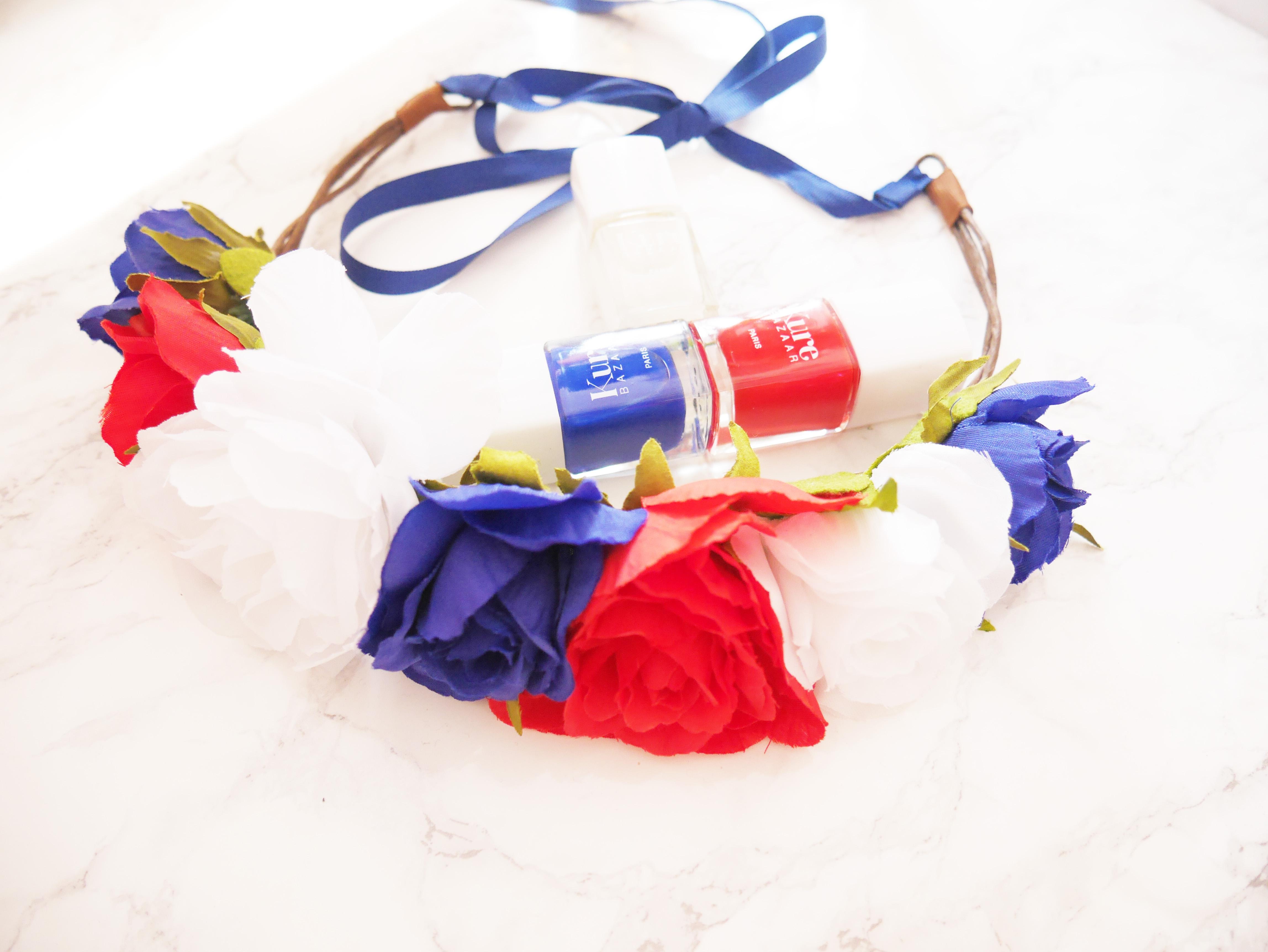 Ma couronne de fleurs bleu blanc rouge